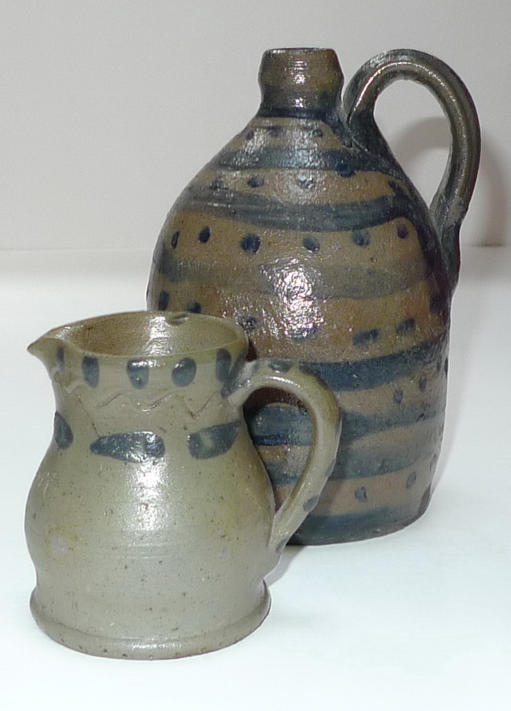 A Present pitcher and jug with dot and line decoration. ai2.