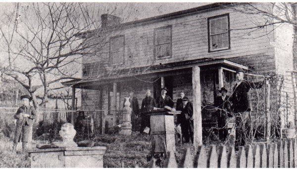 The famous Decker front yard photograph c 1900. Seen in the Tennessee Conservationist. illus16.