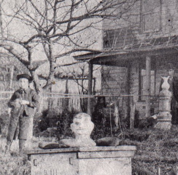 The front yard photograph cropped and enlarged c 1900. illus16c.